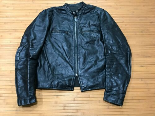 MENS 44 - Vtg 70s Brooks Cafe Racer Motorcycle Bik