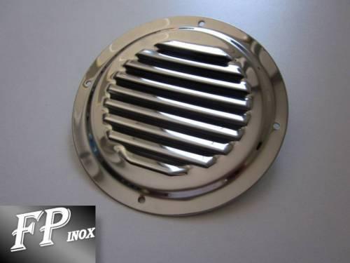Grille Aération Ronde Diamètre 128mm inox 316