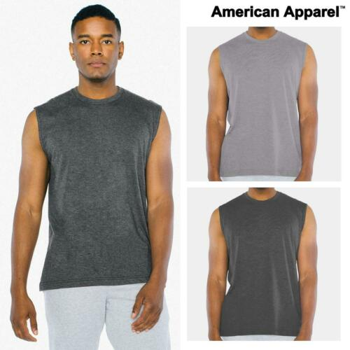 American Apparel Unisex Triblend Muscle Tank RSATR465W Adults Polycotton Vest