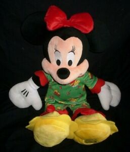 Christmas Minnie Mouse Plush.Details About 17 Disney Store Christmas Minnie Mouse Stuffed Animal Plush Toy Doll Holiday