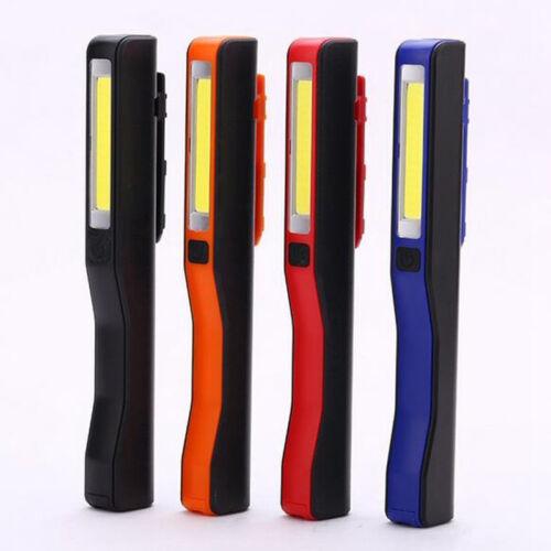 Main Cob LED USB Aimanté Stylo Clip Lampe de Poche Camping Travail Luminaire