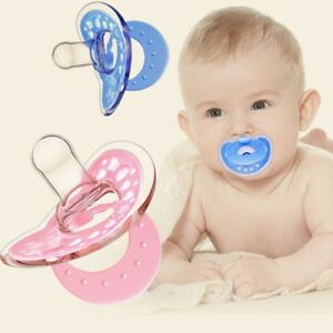 Blue//Pink Newborn Baby Orthodontic Dummy Pacifier Silicone Teat Nipple Soother Z