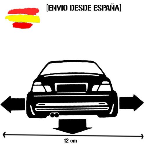 pegatina silueta trasera BMW E 46 dow flechas vinyl sticker racing decal