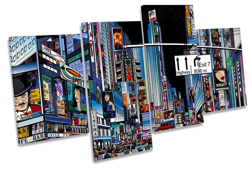 Times Square New York Stadt Bild MULTI CANVAS Wand Kunst Drucken