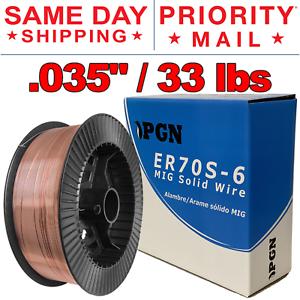 "33 lb Roll ER70S-6 .035/"" Mild Steel Mig Welding Wire Professional"