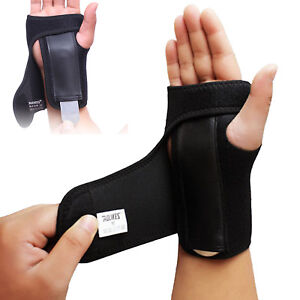 Wrist-Brace-Splint-Sprain-Carpal-Tunnel-Syndrome-Hand-Support-Recovery-Black