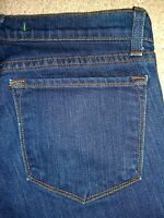 J BRAND #3912C085 Slim Leg Stretch Dark Denim Jeans Womens Size 27 x 34 USA Made
