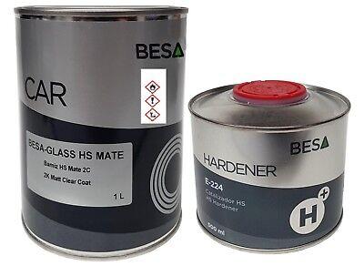 2k Klarlack Matt Besa Inklusive Passenden Härter 1,5 Liter Mv 2:1 Autolack Gute QualitäT