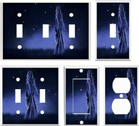 Light Switch Cover Plate Starry Night Mythical Moon Maiden Fantasy Design
