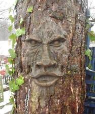 Árbol Realista Cara De Madera Tallada mística cara jardín Decoración del árbol