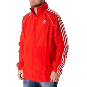 Windbreaker Herren Rot Weiss 43130 Sst Adidas Jacke 4R5LA3jq