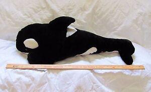 SEA WORLD Large 36'' Shamu Plush Orca Killer Whale Stuffed