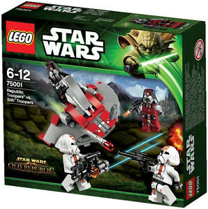 Lego-Star-Clone-Wars-75001-Republic-vs-Sith-Troopers-Battle-Pack-Minifigs-Sealed