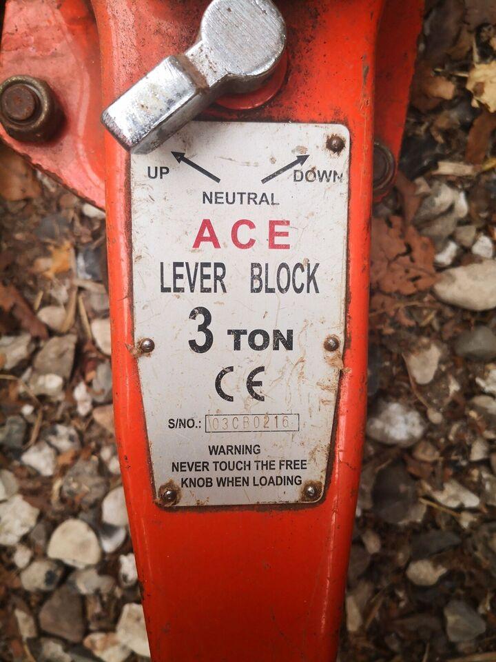 Lever block, ACD, 3 Ton