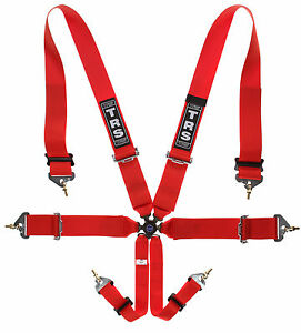 TRS Magnum 6 Point Motorsport Rally Racing Car FIA Approved Harness Orange