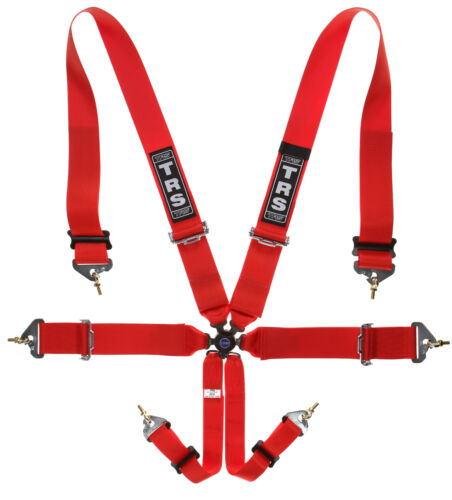 """Red 2019 Seat Belts Ford Escort TRS 6 Point 3x3/"""" FIA Approved Harness"""
