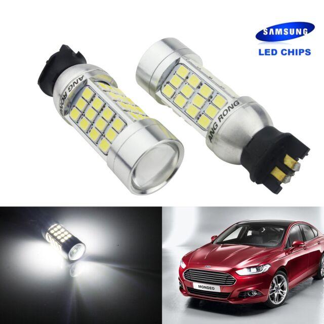 2x PW24W PWY24W SAMSUNG LED Turn Signal Fog DRL Daytime Driving Light Bulb White