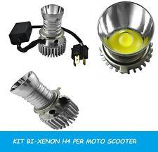 KIT FARI LAMPADA H4 BI-XENON LED 6000K PER MOTO SCOOTER KIT LED H4