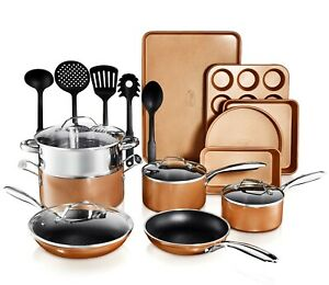 Gotham-Steel-Copper-Cast-Nonstick-20-Piece-Cookware-Set-5-utensils-included