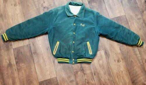 """Vtg RENNOC Corduroy Varsity Jacket """"Jeff"""" Letterma"""