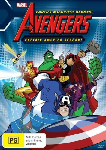 1 of 1 -  The Avengers - Captain America Reborn- DVD VERY GOOD CONDITION FREE POST AUS R4