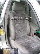 LUXURIOUS Australian Sheepskin SILVER color Insert Seat Cover A Pair