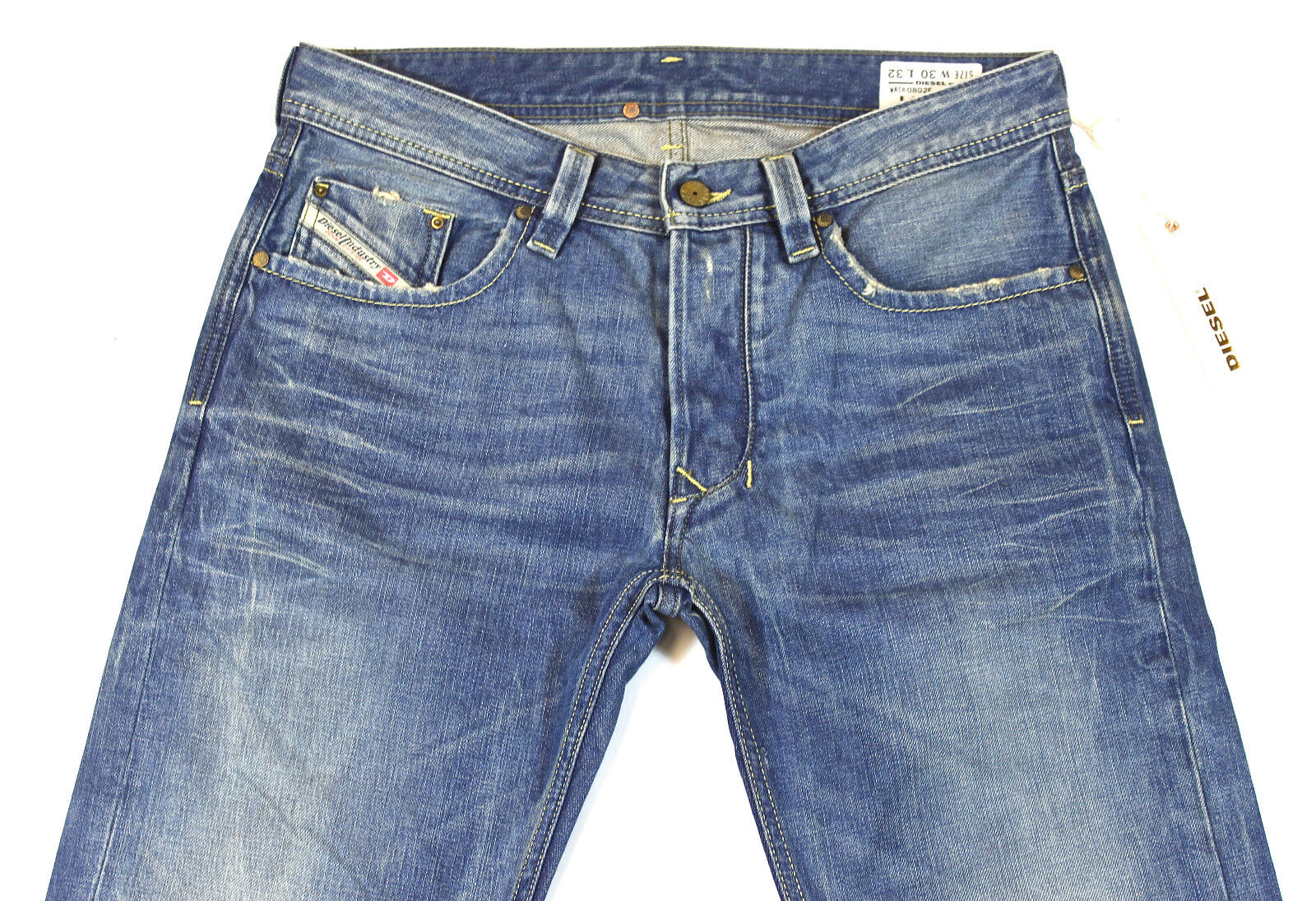 BRAND NEW DIESEL LARKEE 802E JEANS 0802E 30X32 REGULAR FIT STRAIGHT LEG