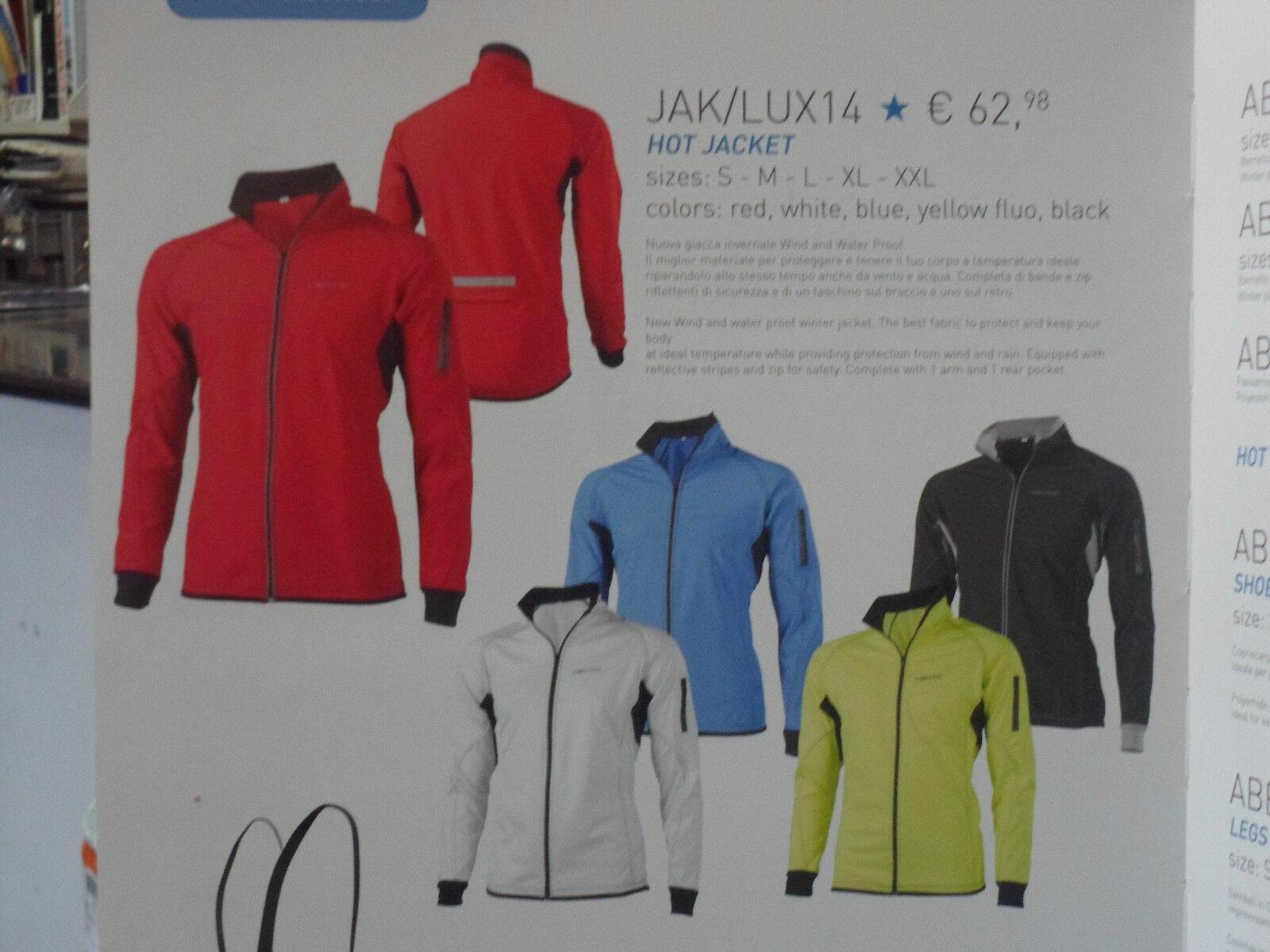 Nuova giacca invernale antivento bici ciclo mtb bike  barbieri bianca taglia s