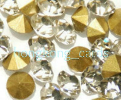 = 144 pcs SS12 (3mm) Diamond Clear A Crystal Rhinestone Loose Point Back Shape