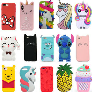 For Samsung S5 S6 S7 Edge S8 S9 Plus New Hot 3D Cartoon Soft Silicone Case Cover