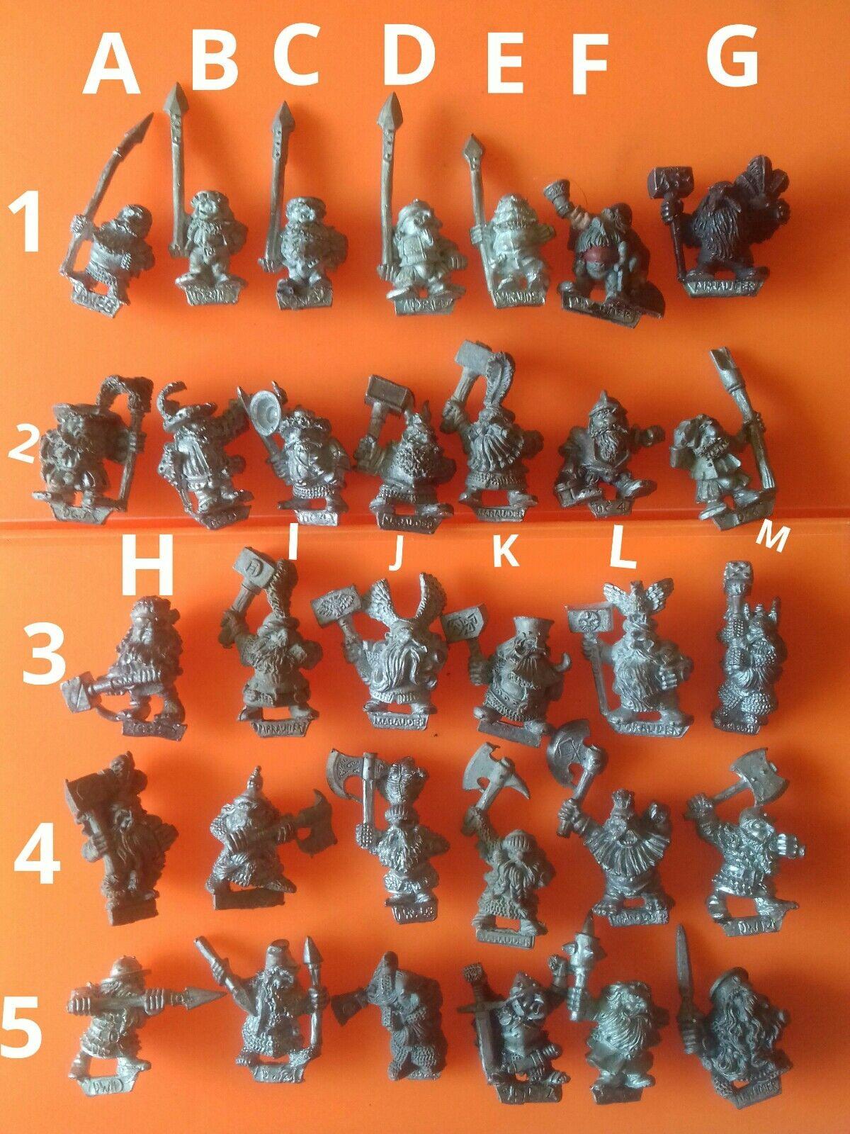 32x MM various dwarf warrior marauder miniatures via citadel gw dwarfs dwarves