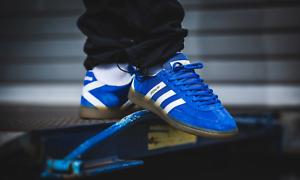 Détails sur Adidas Originals Handball Spezial Chaussures BleuBlanc Baskets afficher le titre d'origine