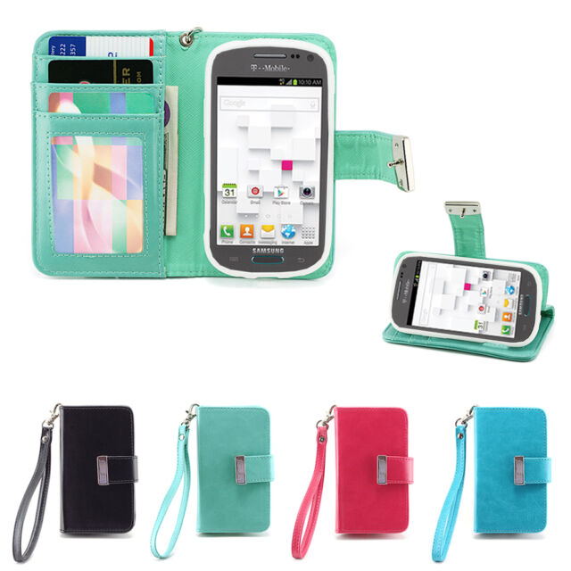 IZENGATE Wallet Flip Case PU Leather Cover Folio for Samsung Galaxy Exhibit T599