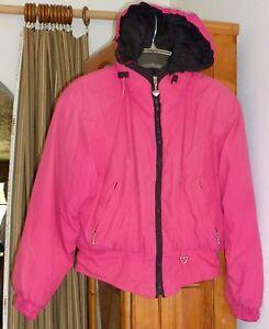 OBERMEYER Fuchsia   Black Polyestr SNOW SKI WINTER JACKET Full Zip ... c2f38fc05