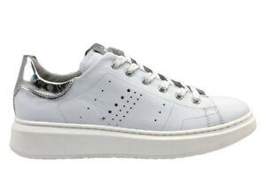 Nero-Giardini-Junior-P930990F-Bianco-Sneakers-Donna-Bambina-Casual