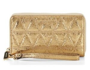 NWT-AUTHENTIC-MICHAEL-KORS-LARGE-FLAT-MULTIFUNCTION-PHONE-CASE-WALLET-128-GOLD