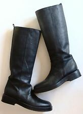 Ann Demeulemeester Pull on Black Leather Boots Sold Out Excellent Condition! 9