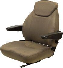 John Deere Brown Fabric Seat 6110 6110l 6120 6120l 6200 6210 6300 6400 6403 Etc
