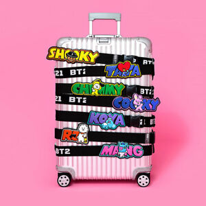BTS-BT21-Official-Authentic-Goods-Luggage-Belt-7Characters-Tracking-Number