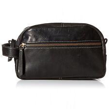 Timberland Mens Rugged Wash Leather Travel Kit Black One Size