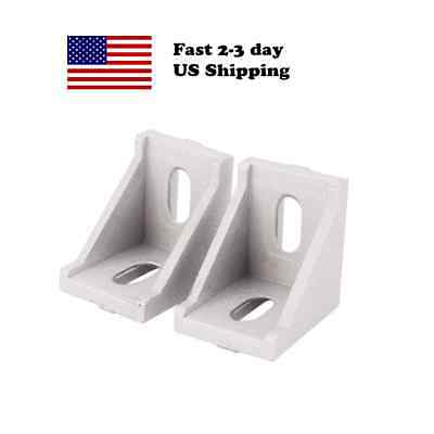 2 Pcs 3030 35mm x 35mm corner bracket for 30 series t-slot frame profile US USA