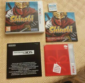 Shinobi nintendo 3DS PAL français fr complet avec carte Nintendo non grattée