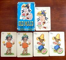 Vtg OLD MAID Card Game with Black Americana Honey Pie & Seedy Sambo w/ Orig Box