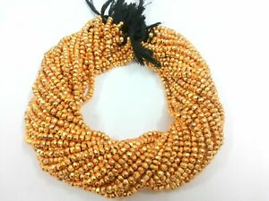 Pyrite Gemstone Faceted Rondelle Beads 3-4 MM 13 inch Strands