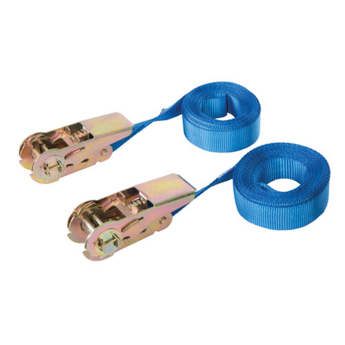 Silverline Endless Ratchet Tie-Down Strap 2pk Rated 250kg Capacity 500kg 566269
