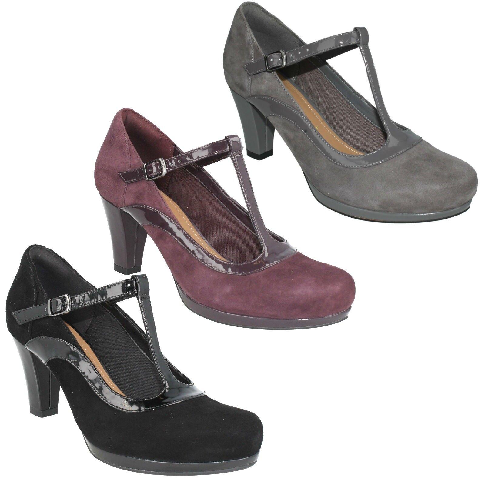 Sandalo Donna Clarks in pelle scamosciata t Fibbia bar Smart Fibbia t Scarpe   e9e938