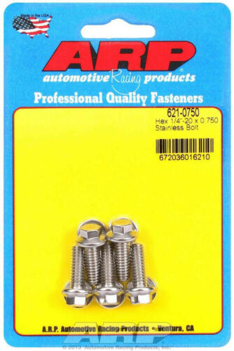 5//16 in Hex Head Stainless Polishe Bolt 1//4-20 in Thread 0.750 in Long