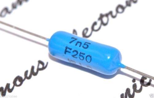 7500pF 7.5nF 1pcs-PHILIPS KP 7500P 250V 1/% Axial Polypropylene Capacitor