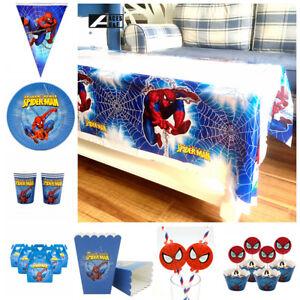 Spider-Man-Children-Kids-Theme-Birthday-Party-Supply-Tableware-amp-Serveware-Range