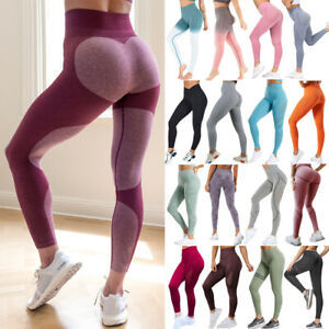 Women-Seamless-Sport-Pants-High-Waist-Yoga-Fitness-Leggings-Stretch-Gym-Trousers